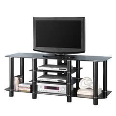"60"" Black Glass TV Stand"