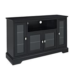 "52"" Black Wood Highboy TV Stand"
