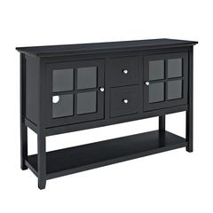 "Walker Edison 52"" Black Wood Console Table TV Stand"
