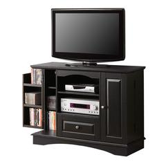 "Walker Edison 42"" Black Wood Highboy TV Stand"