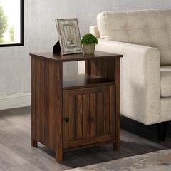 "18"" Grooved Door Side Table - Dark Walnut"