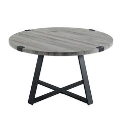 "30"" Metal Wrap Coffee Table - Slate Gray"