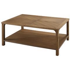 "42"" Solid Wood Chevron Coffee Table - Caramel"