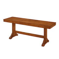 "48"" Millwright Wood Dining Bench - Antique Brown"