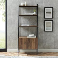 "72"" Industrial Modern Ladder Bookcase - Reclaimed Barnwood"