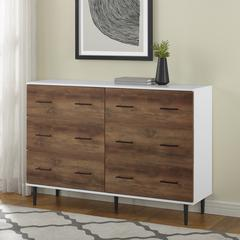 """52"""" Two-Tone Reclaimed Wood 6-Drawer Dresser"""