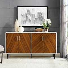"""58"""" Two-Tone Modern Bookmatch Buffet"""