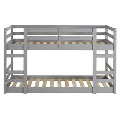 Twin/Twin Solid Wood Bunk Bed - Grey