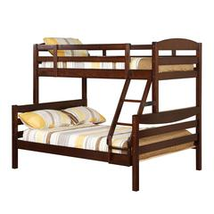 Walker Edison Twin over Full Solid Wood Bunk Bed - Brown