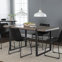 Urban Blend 5 Piece Dining Set - Driftwood/Black