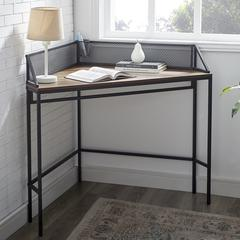 "42"" Industrial Corner Desk - Dark Walnut"