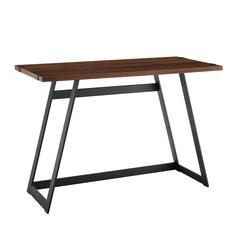 "42"" Urban Industrial Metal Wrap Writing Computer Desk - Dark Walnut"