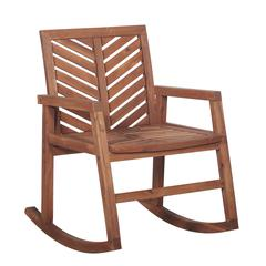 3-Piece Outdoor Rocking Chair Chat Set - Brown