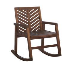 3-Piece Outdoor Rocking Chair Chat Set - Dark Brown