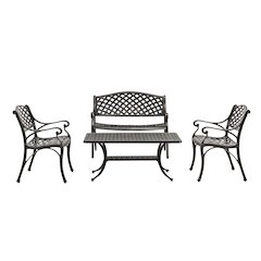 4-Piece Cast Aluminum Conversation Set