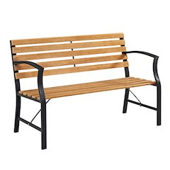 "48"" Outdoor Steel Park Bench"
