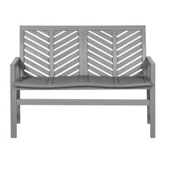 Outdoor Chevron Love Seat - Grey Wash
