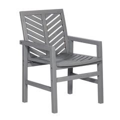 5-Piece Chevron Outdoor Patio Dining Set - Grey Wash