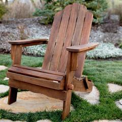 Acacia Adirondack Chair - Dark Brown