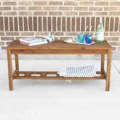 Acacia Wood Ladder Base Coffee Table - Brown