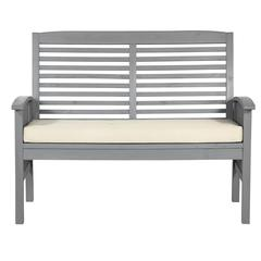 Outdoor Love Seat with Cushion - Grey Wash