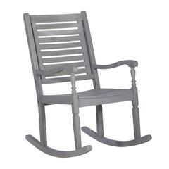 Acacia Outdoor Solid Wood Rocking Chair- Gray Wash