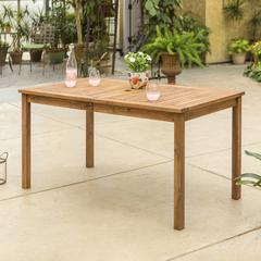 Acacia Wood Patio Classic Dining Table - Brown