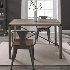 "48"" Metal X Dining Table - Grey Wash"