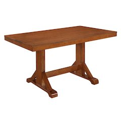 "60"" Millwright Wood Dining Table - Antique Brown"
