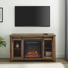 "48"" Rustic Farmhouse Fireplace TV Stand  - Rustic Oak"