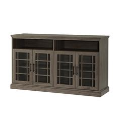 "58"" Classic Glass Door TV Console - Slate Grey"