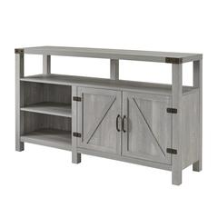 "58"" Barndoor Highboy Console - Stone Grey"