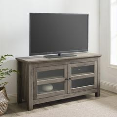 "44"" Wood TV Media Stand Storage Console - Grey Wash"