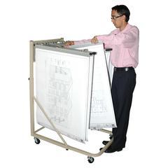 ADIR Adir Vertical File Rolling Stand for Blueprints