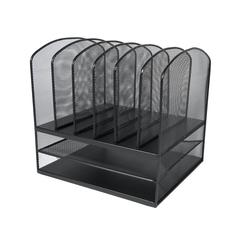 ADIR Mesh Desk Organizer with Two Horizontal and Six Upright Sections