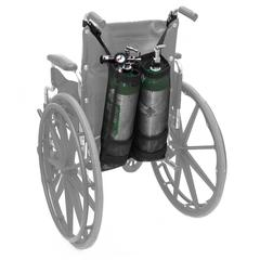 Double Oxygen Bag for Wheelchair, D & E Cylinders