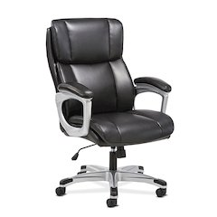 Executive Chair | Fixed Arms | Black Leather