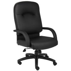 Boss High Back Caressoft Chair In Black W/ Knee Tilt