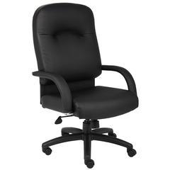 Boss High Back Caressoft Chair In Black W/ Knee Tilt