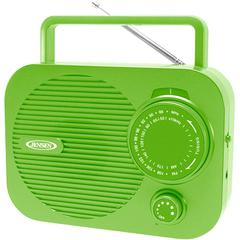 Portable AM/FM Radio with Aux Line-in (Green)