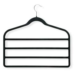 4-Pack Velvet Touch 4-Step Hanger, Black