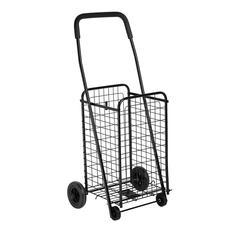 Honey Can Do Rolling 4 Wheel Utility Cart, Black