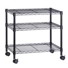 3-Shelf Steel Cart, Black