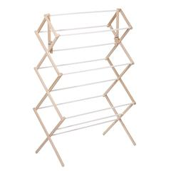 Honey Can Do Heavy Duty Wood Accordion Drying Rack, Natural
