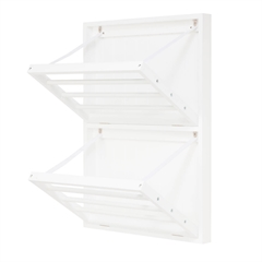 Vertical Dual Wall Mount Drying Rack, White