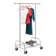Bottom Shelf Garment Rack, Chrome