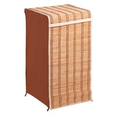 Honey Can Do Tall Bamboo Wicker Weave Hamper, Natural Bamboo