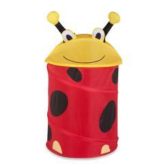 Honey Can Do Medium Kid's Pop-Up Hamper - Lady Bug, Yellow / Red