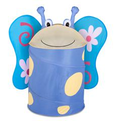 Honey Can Do Large Kids Pop-Up Hamper - Butterfly, Blue / Yellow