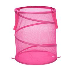 Large Mesh Pop Open Hamper, Pink